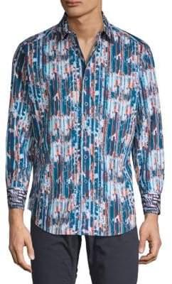 Robert Graham Bandlon Long-Sleeve Button-Down Shirt