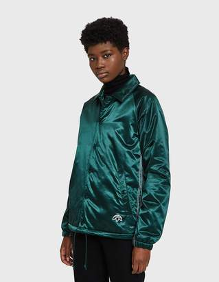 Alexander Wang Adidas X AW Coach Jacket in Green Night/Black