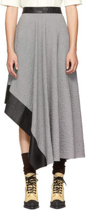 Loewe Black and White Asymmetric Skirt