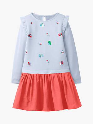 Boden Girls' Fun Dress, Blue