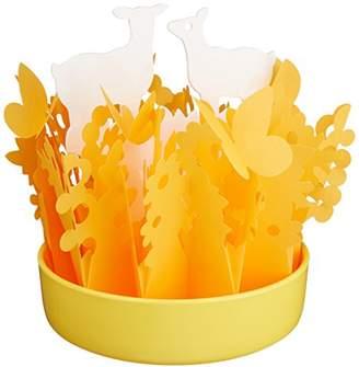 ミクニ ネイチャーフォレスト 香りの雫ローズのミニボトル付 しか×オレンジ 自然気化式 エコ加湿器 日本製