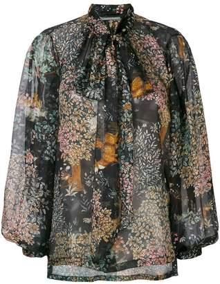 Alberta Ferretti pussy bow blouse