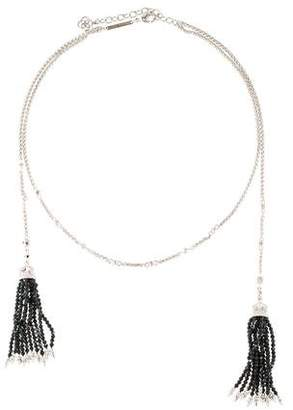 Kendra Scott Labradorite & Crystal Monique Tassel Collar Neckalce