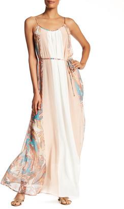 Ella Moss Silk Colorblock Maxi Dress $298 thestylecure.com