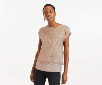 121ac87b63b9 Sequin Sleeve T-shirt - ShopStyle UK