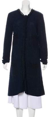 Armani Collezioni Knit Long Coat