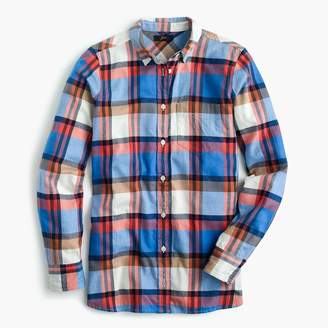 J.Crew Classic-fit boy shirt in pacey plaid