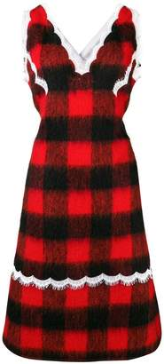 Calvin Klein check apron dress