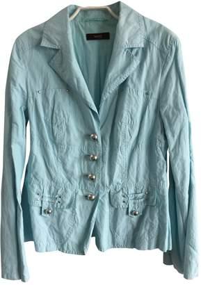Laurèl Turquoise Cotton Jacket for Women