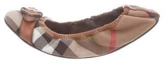 Burberry Nova Check Round-Toe Flats