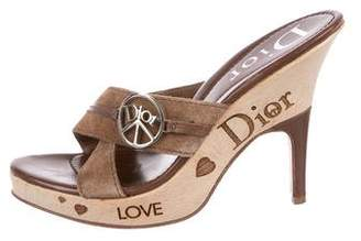 Christian Dior 'Love' Slide Sandals