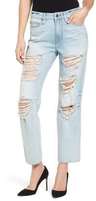 Good American Good Straight Pearls High Waist Jeans