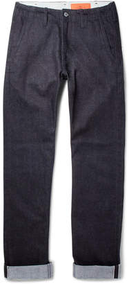 Jean Shop Leon Slim-Fit Selvedge Stretch-Denim Jeans