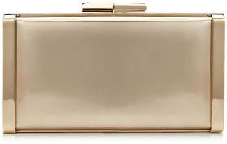 Jimmy Choo J BOX Gold Liquid Mirror Leather Clutch Bag