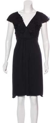 Alberta Ferretti Wool-Blend Mini Dress
