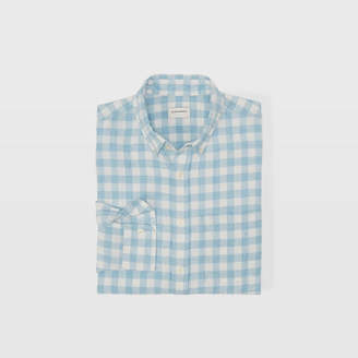 Club Monaco Slim Gingham Linen Shirt