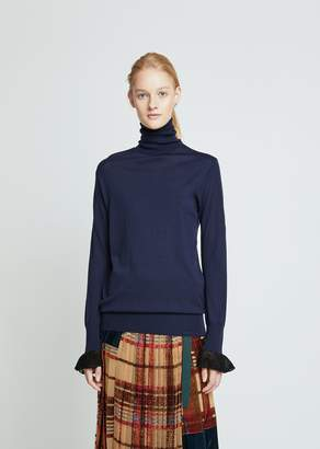 Sacai Wool Knit Turtleneck Sweater