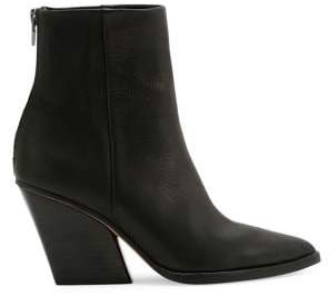 Dolce Vita Issa Leather Block Heel Booties