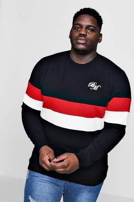 boohoo Big And Tall MAN Colour Block Sweater