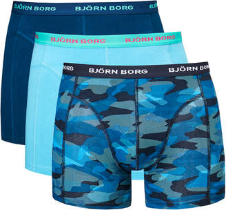 Bjorn Borg Camoline Total Eclipse Three Pack Boxer Shorts