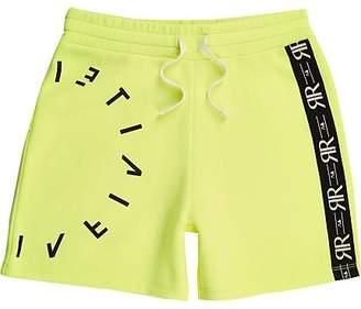 43330b7f5b3f River Island Boys RI Active neon yellow jersey shorts