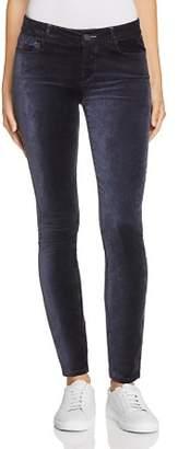 Paige Verdugo Ultra Skinny Velour Jeans in Midnight Slate Velvet