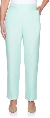 Alfred Dunner Roman Holiday Womens High Waisted Straight Flat Front Pant