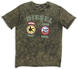 Diesel Boys' Mineral Wash Patch Tee - Big Kid