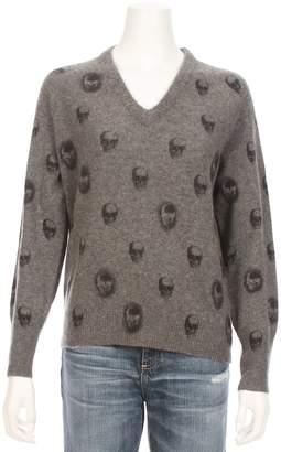 360 Sweater Riley V-Neck Skull Cashmere Sweater