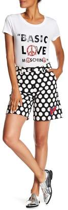 Love Moschino Dotted Patch Shorts