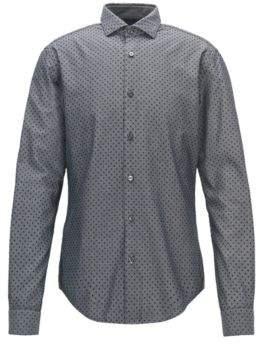 BOSS Hugo Polka Dot Sport Shirt, Slim Fit Ridley F L Black