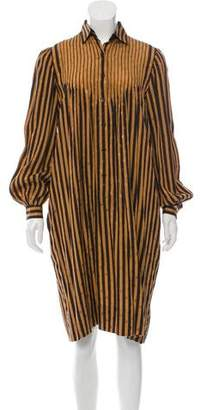 Givenchy Striped Button-Up Dress
