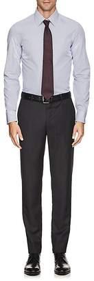Armani Collezioni MEN'S CHECKED COTTON POPLIN DRESS SHIRT