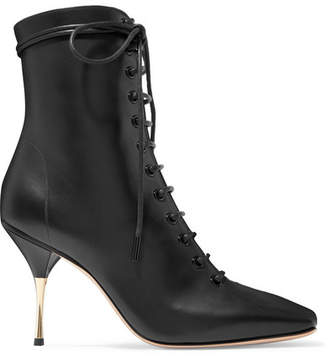 Petar Petrov Stella Lace-up Leather Ankle Boots - Black
