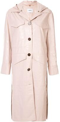 Nanushka hooded duster coat