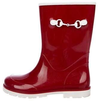 Gucci Girls' Round-Toe Rubber Rainboots