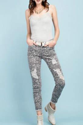 Easel Animal Print Pants