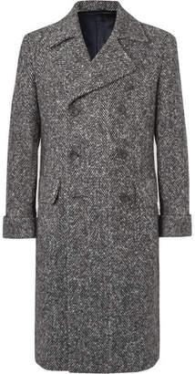 Rubinacci Slim-Fit Double-Breasted Herringbone Virgin Wool Coat