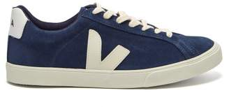 Veja - Esplar Suede Low Top Trainers - Womens - Navy