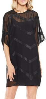 Vince Camuto Zen Bloom Dolman-Sleeve Sheer Dress