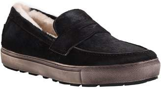 Matteo Ross & Snow Genuine Shearling Lined Loafer Sneaker