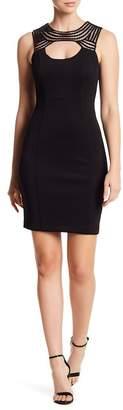GUESS Neckline Detail Cutout Dress