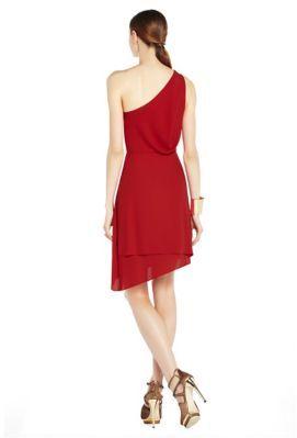 BCBGMAXAZRIA Somara Draped One-Shoulder Dress