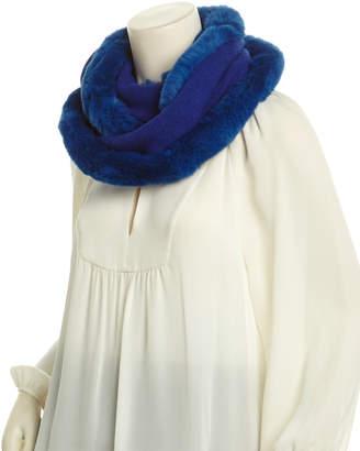 La Fiorentina Cobalt Cashmere & Wool-Blend Infinity Scarf