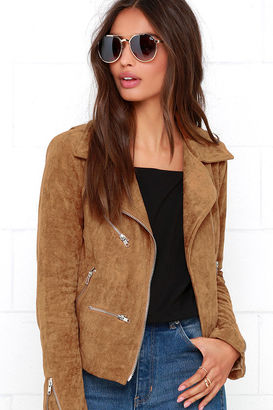 Suede with Love Tan Suede Moto Jacket $95 thestylecure.com