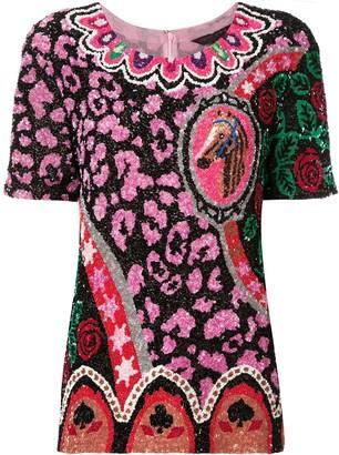 Manish Arora sequinned shortsleeved top