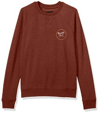 Brixton Men's Wheeler Standard Fit Crew Fleece Sweatshirt