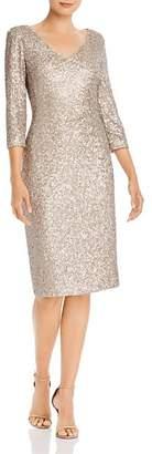 Donna Karan V-Neck Sequin Dress