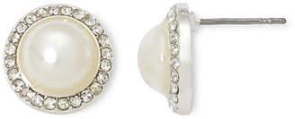 VIESTE ROSA Vieste Rhinestones and Simulated Pearl Stud Earrings