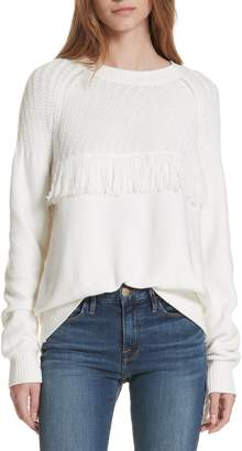 Frame Fringe Crewneck Sweater